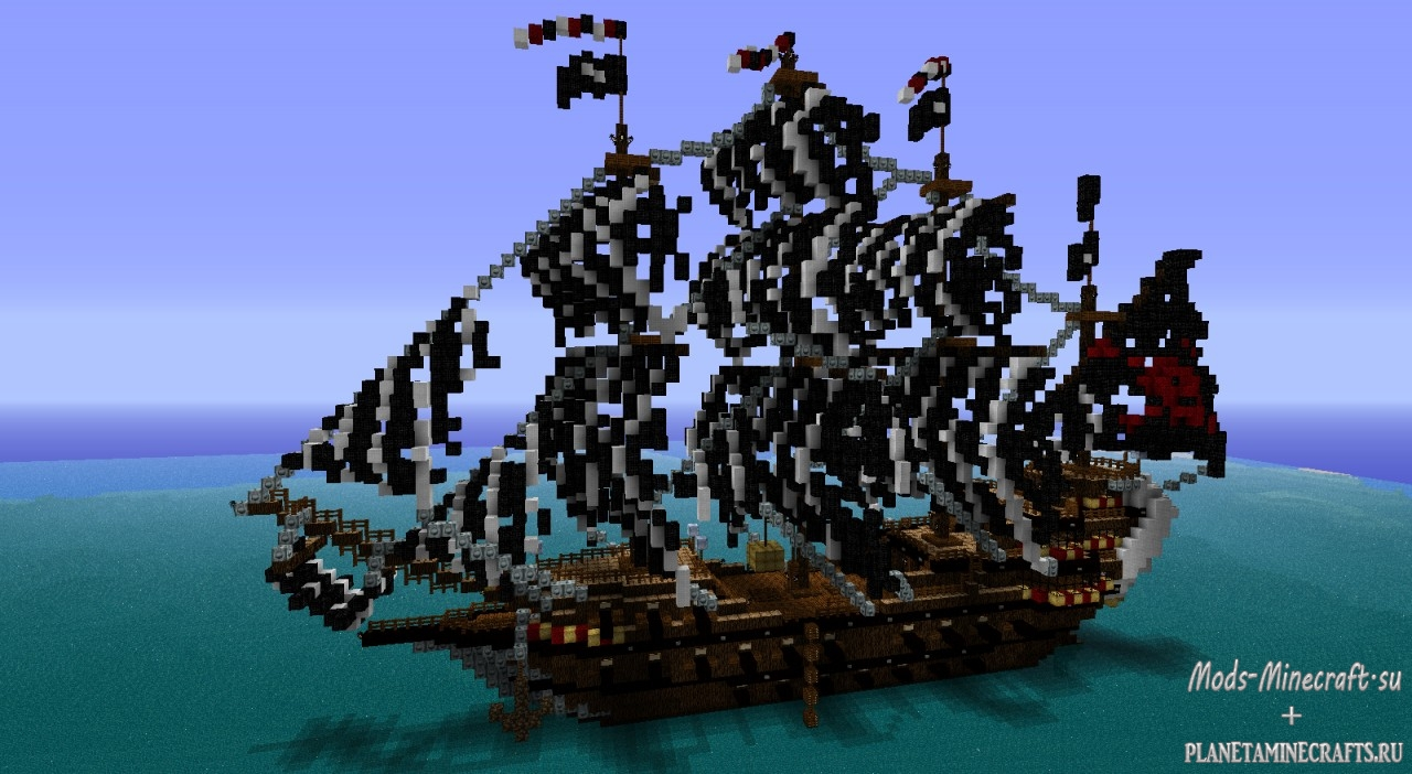 Карта корабль Титаник для Minecraft 1.5.2, 1.6.4 и 1.7.2.