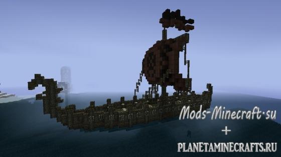 корабль викингов майнкрафт