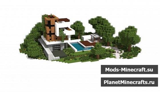 Схема постройки дома Villa