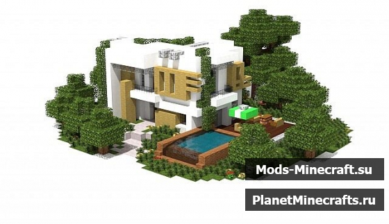 Schematic minecraft Villa
