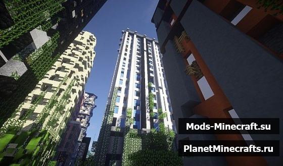 Cкачать карту города зомби апокалипсис для minecraft.