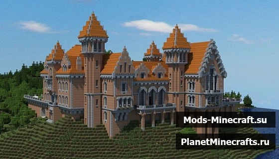 Карта майнкрафт красивый замок
