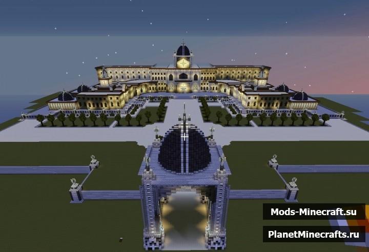 Майнкрафт схема дворец Шейха
