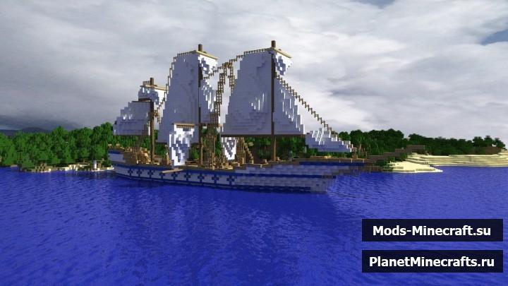 Корабль Achilles майнкрафт