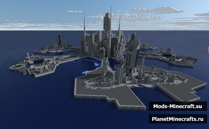 Майнкрафт карта атлантида