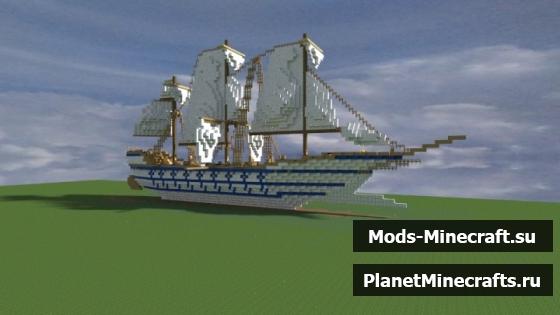schematic корабля майнкрафт