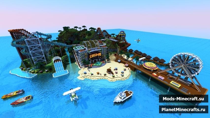 Скачать карту тропический остров для minecraft 1. 4. 7.